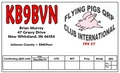 Flying Pigs QSL card