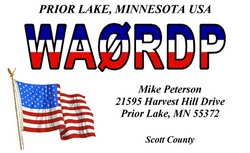 Red White and Blue QSL