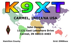World Color Map QSL