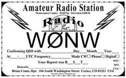 Vintage 1950's QSL Style 211