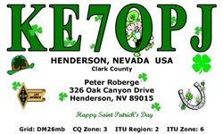 St.Patricks Day QSL