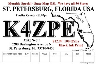 Color QSL monthly special