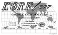 Black ink world map QRP QSL